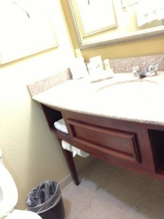 Country Inn & Suites By Carlson, Pensacola West: large vanity