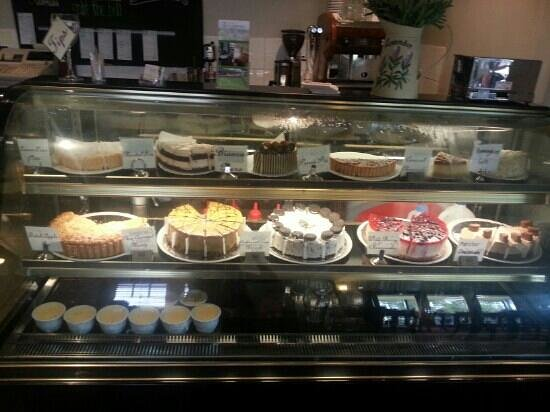 Cepes Restaurant: the display of the wonderful fresh baked deserts of the day !! YUMM !