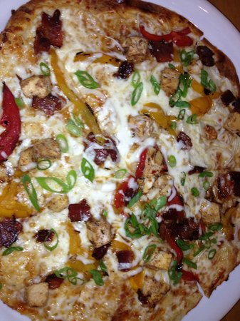 California Pizza Kitchen: Sweet pizza... no spicy.