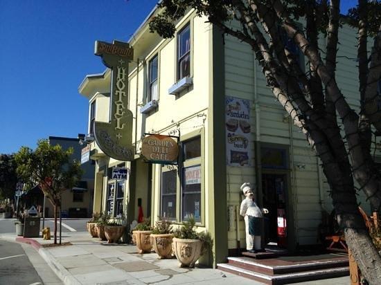 San Benito House: on main street