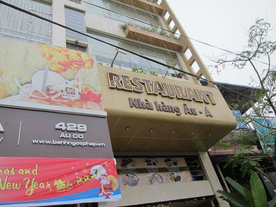 Anh Hoa restaurant: Outside Sign