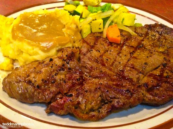 The Historic Pioneer Restaurant : BEST RIB EYE IN THE PLANET