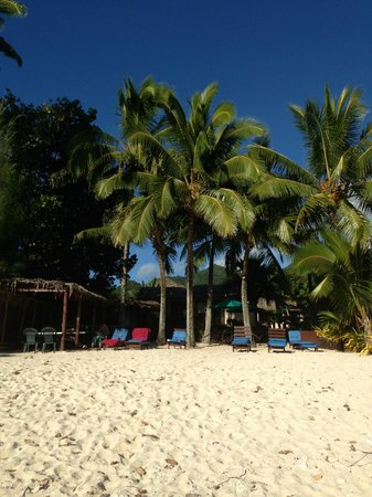 Castaway Resort: View from the beach