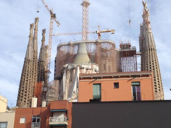 Sensation Sagrada Familia: View from terrace Duplex 1