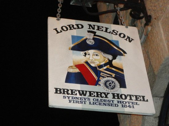 The Lord Nelson Brewery Hotel: outside logo