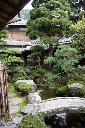 Kinosaki Onsen Nishimuraya Honkan: View of the garden from my room.