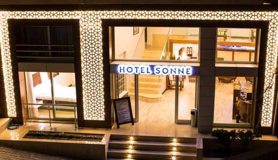 Hotel Sonne: The Hotel Entrance