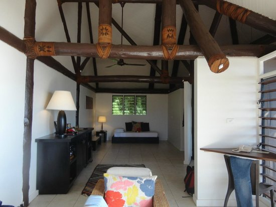 Yasawa Island Resort and Spa: internal view of bungalow