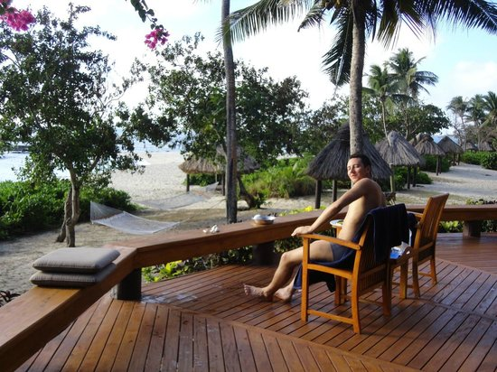 Yasawa Island Resort and Spa: room terrace