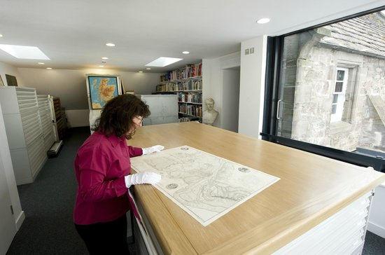 Fair Maid's House Visitor and Education Centre: The Cuthbert Room - home to the Society's map collection.