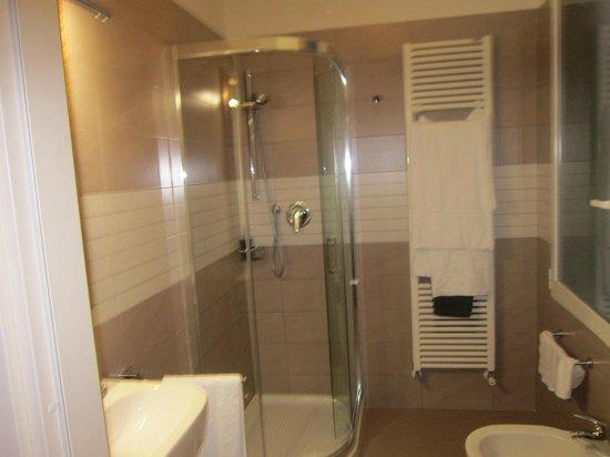 Ca' Dalisera Venice B&B : il bagno della camera verde...nuovo e pulitissimo!