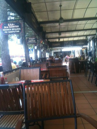 Rugby Tavern: large terrace