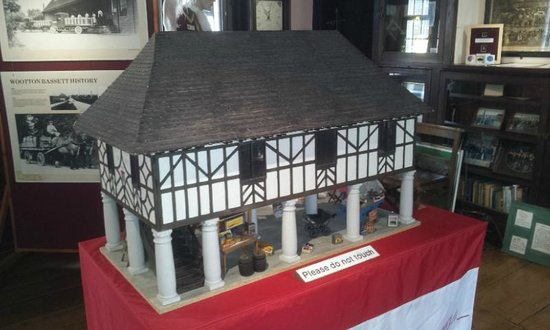 Royal Wootton Bassett Old Town Hall: Model of the Town Hall in the Town Hall, Royal Wootton Bassett