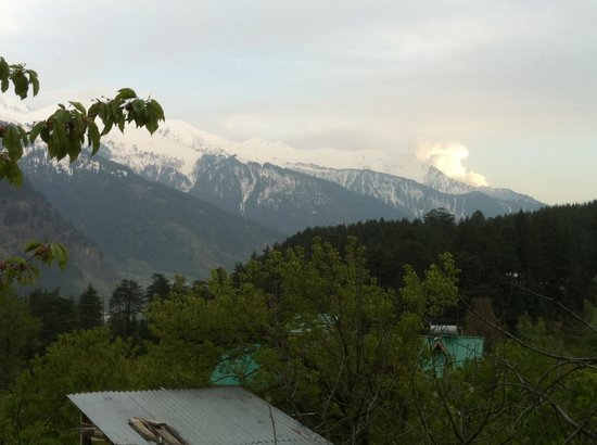 Charwahas Inn and Cafe : View from balcony on top floor