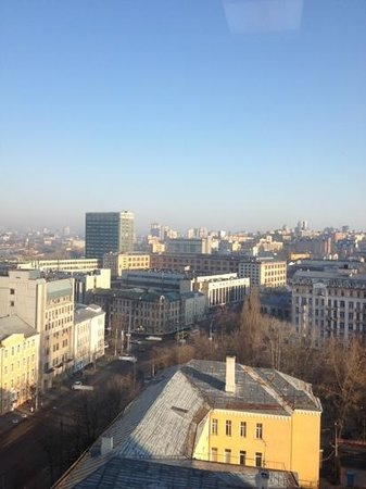 Holiday Inn Kiev: view from gym on 11th Floor