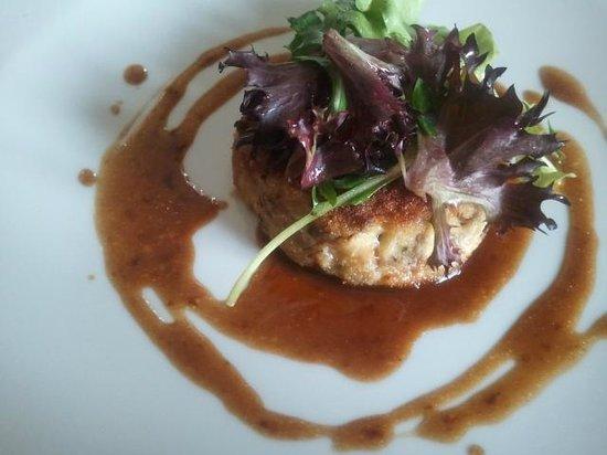 Restaurant Le Vent d'Ange : Galette croustillante de pied de cochon