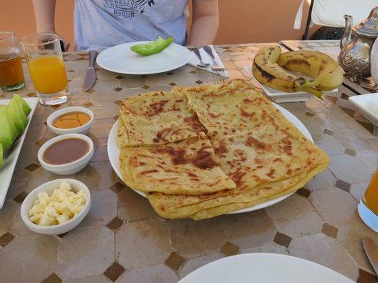 Riad Ma'ab : Moroccan style pancakes