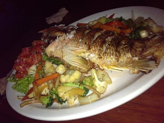 Soda marvin: Fried whole snapper, this one was large so it was about $12