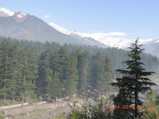 Lord's Regency: View from room-snow clad mountains