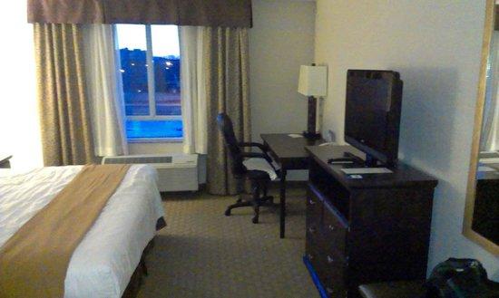 Holiday Inn Express Hotel & Suites Ottawa Airport: Desk & TV