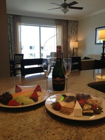 Key West Marriott Beachside Hotel: Welcome amenities