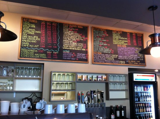 The Joint: The menu, craft draft beers, coffee, cooler