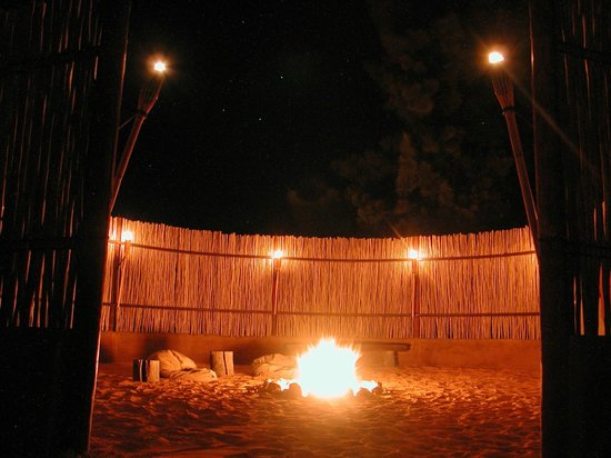 Gecko Creek Wildnerness Lodge: Boma and the best stars in the world