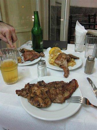 O Telis Mprizoles: A plate of pork chop shared between the both of us