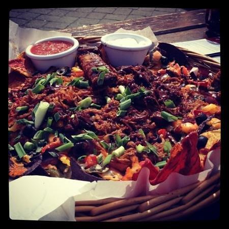 Dusty's Bar & BBQ: the nachos!!!