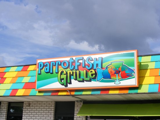 PARROTFISH GRILLE: SIGN YOU CAN'T MISS!