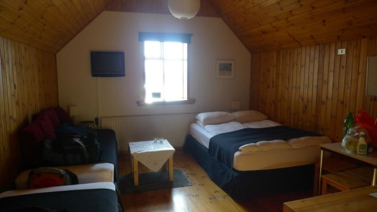 Bjarg Borgarnes: cosy sleeping rooms