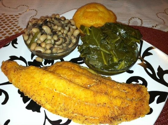 Isaiah's Restaurant: Catfish, Collards, Black-eyed Peas & Cornbread - Tasty!