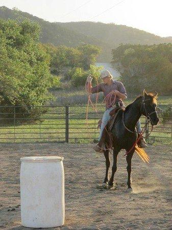 Rancho Cortez: Roping 'show'