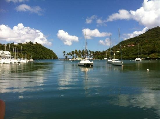 Royal St Lucia Resort and Spa: one of the marinas...