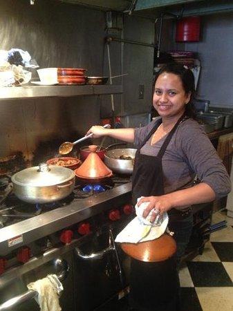 tara kitchen aneesa owner cooking for me - Taras Kitchen