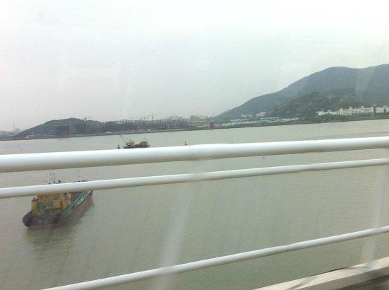 Macau-Taipa Bridge: by bus through  the bridge