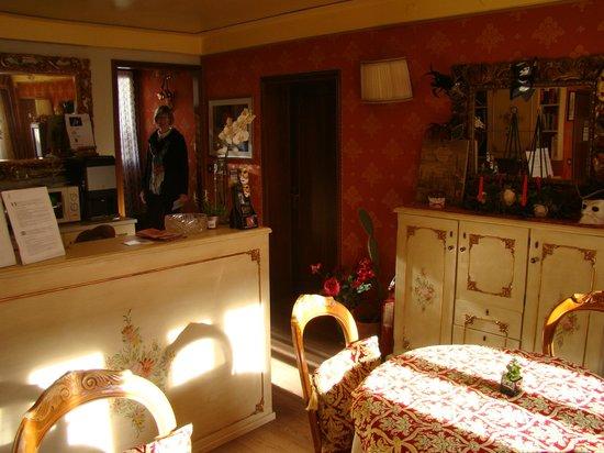 """Locanda Antico Fiore: """"Office"""" and Breakfast Area."""