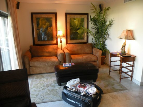 Plantana Condominiums: Living room accross from couch area