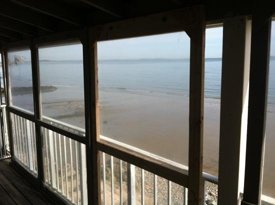 Pilgrim Sands on Long Beach: view from Rm 207 w/ plexi glass