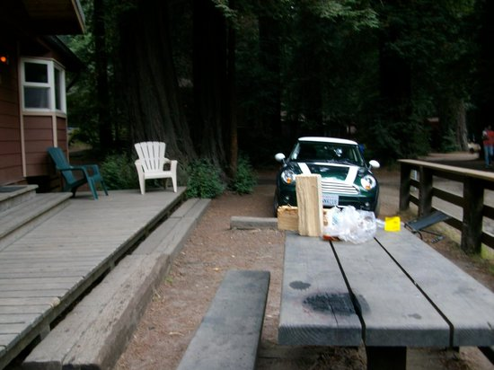 Big Sur Campground & Cabins: Cabin Outside