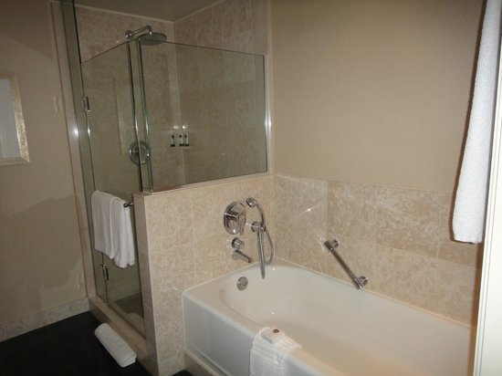 Sofitel Washington DC: Soaking Tub and Shower Stall