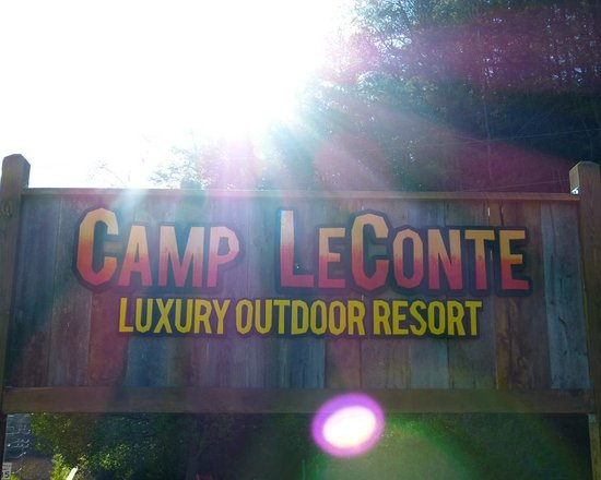Camp LeConte Luxury Outdoor Resort : Sunrise at Camp LeConte