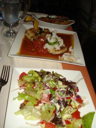 Lenos y Carbon : corvina with salad