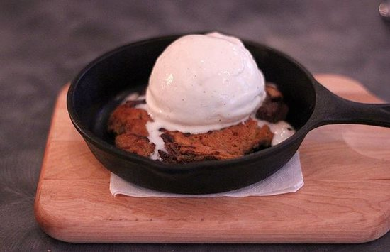 Christie's: Warm Chocolate Chip Cookie with Vanilla Ice Cream