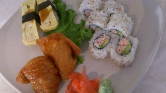Sushi-mambo: Inari, California Roll and  Tomago Sushi