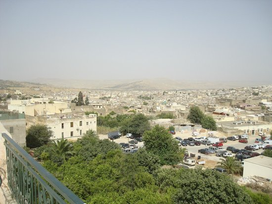 Ryad Mabrouka: view from the rooftop patio