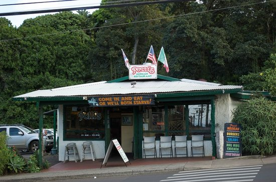 Polli's Mexican Restaurant: 外観 見つけ易い場所