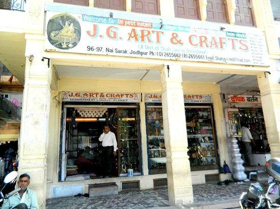 JG Art and Crafts : the shop