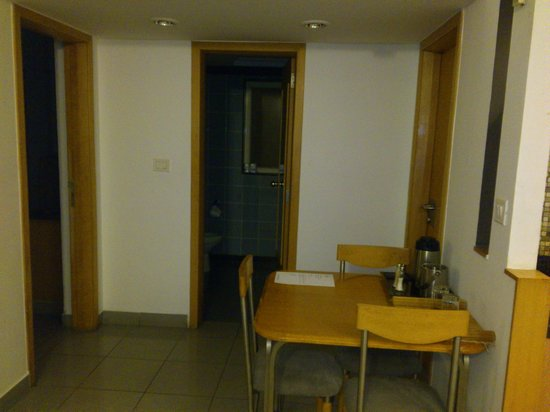 Tristar Service Apartments : View of Both the Rooms (Left and Right) with common Washroom at Centre