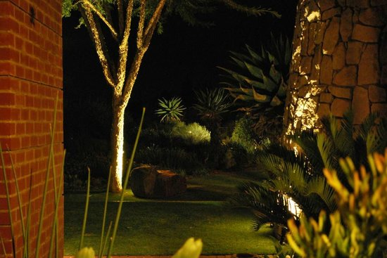 Liedjiesbos B&B: The wonderful garden at night
